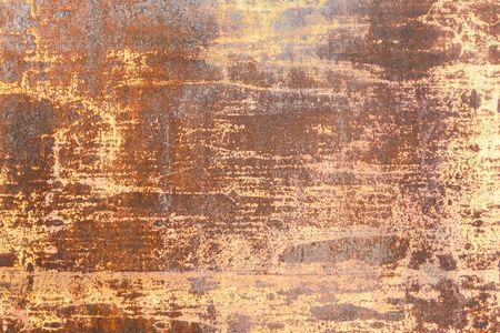 Background rusty brown red orange metal wall