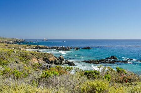 Beautiful rugged coastline at the Pacific Ocean in California, United States
