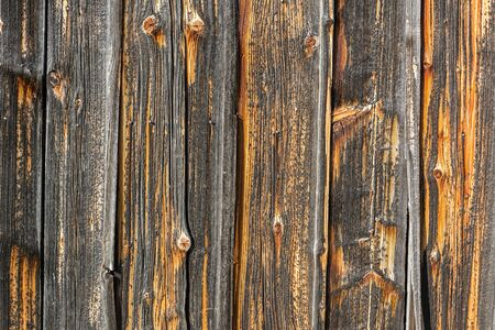 Background, rustic weathered brown wooden wall (horizontal)