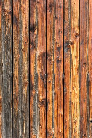 Background, rustic weathered wooden wall (vertical) Фото со стока