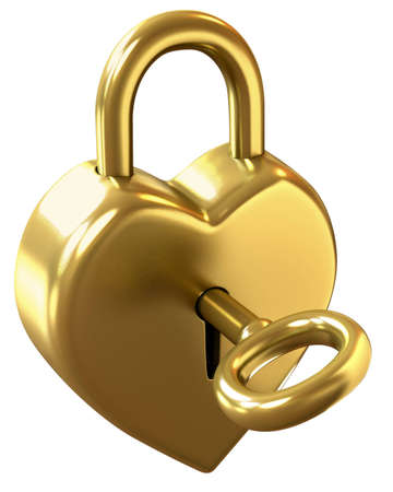 locked: Heart shaped padlock