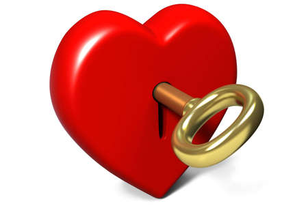 Locked heart photo