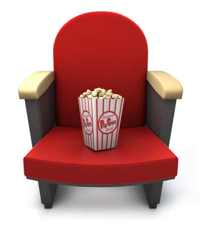 Popcorn package on theater seat