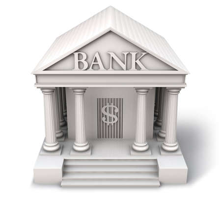 bank icon: Bank building icon Stock Photo