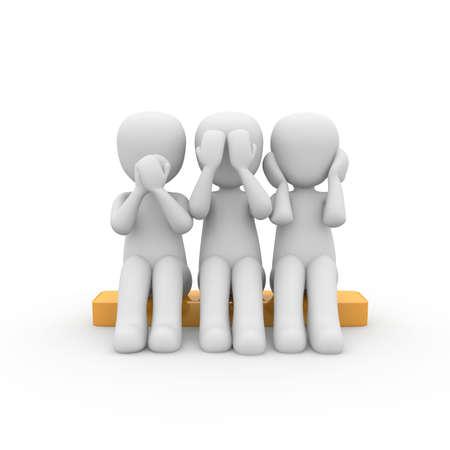 known: The 3D figures underline known figures to speak on the Unbetroffenheit