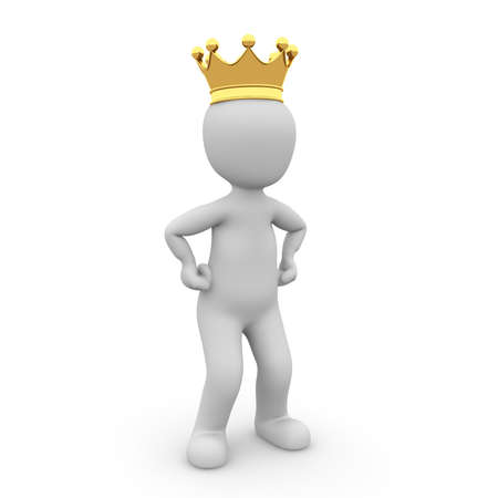 happy client: A small King has a small crown on but met the big decisions