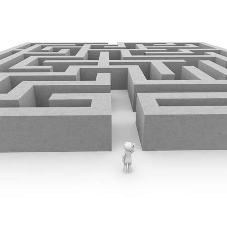 business obstacle: The labyrinth is a great challenge for all the courageous people!