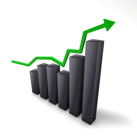 The upward trend in the stock market can not be stopped, because the profits sprundel infinitely. Stock Photo