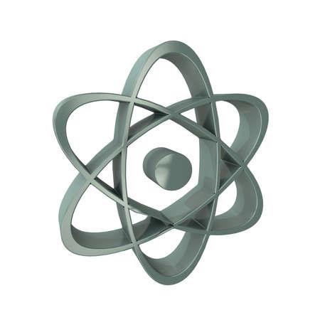 una representación tridimensional de un átomo para la vista de icono Foto de archivo - 18675472