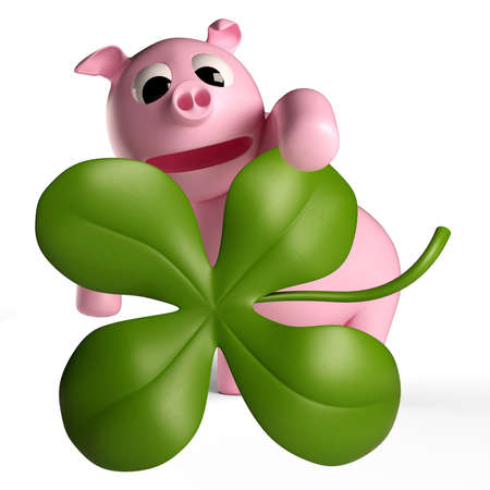 A lucky charm can be a clover, a pig or a rider as a chimney sweep Stock Photo - 18811795