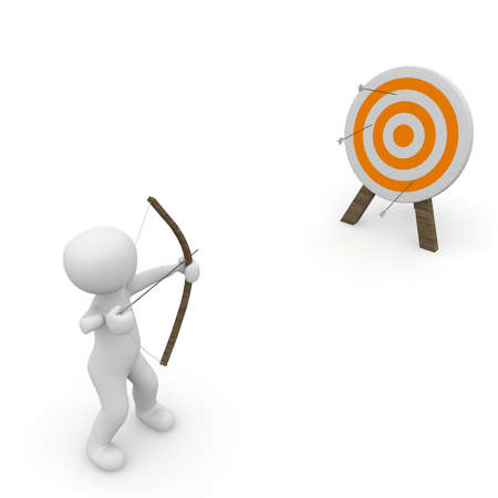 exactness: As an archer you have the goal always in sight Stock Photo