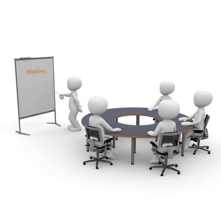 An office space situation for presentation, teamwork and collaboration photo