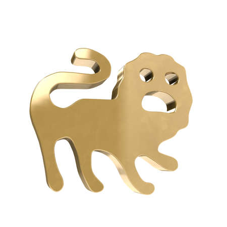 but think: The star sign is Lion in astrology a feature for the time in which we are born. Stock Photo