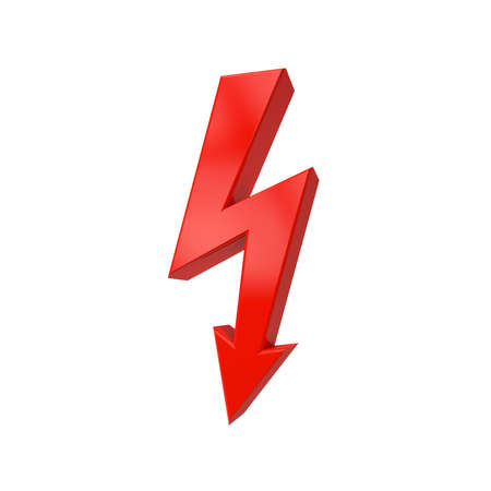 A flash is often used as a sign of power-cloths to others to warn of electric shock. photo