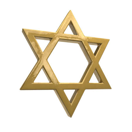 jewish star: The star of david is a Jewish sign. Stock Photo