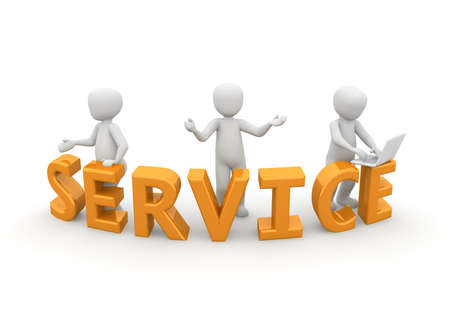 good service: The three characters offer us a good service.