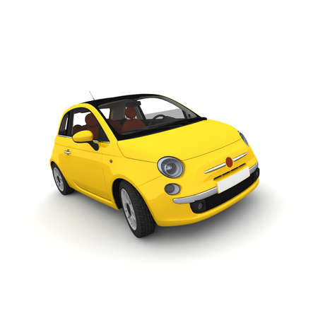 The yellow car is now ready for sale.