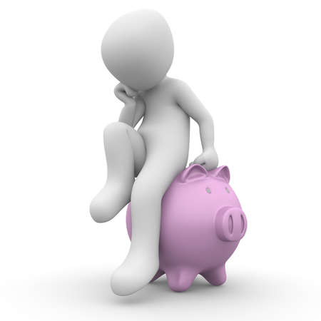 investor: The character has to make money and sits on the piggy bank.