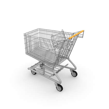 A shopping cart is handy if you want to buy a lot. photo