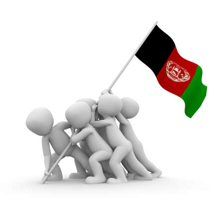 afghan flag: The characters want to hoist the Afghan flag together.