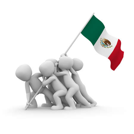 The characters want to hoist the Mexican flag together.