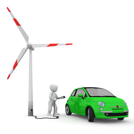Electric powered cars are more environmentally friendly than. photo