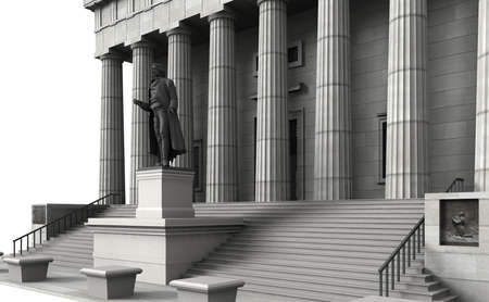 federal hall: Federal Hall was the first capitol building of the United States of America Stock Photo