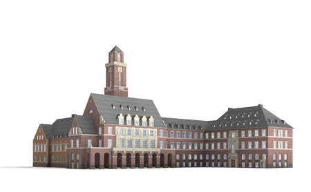 dysentery: The Bottrop town hall from 1918 is considered as one of the finest in the Ruhr.