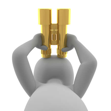 observers: The golden binoculars as observers and vision device.