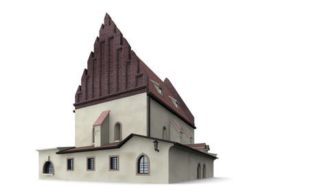 tora: The synagogue was in the middle of the 13th Century. Stock Photo