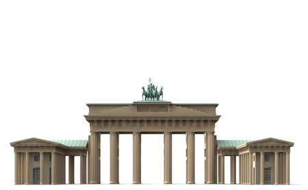 The Brandenburg gate is the landmark for Berlin.