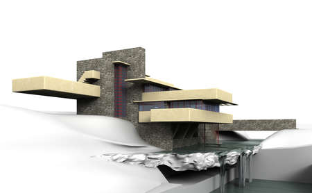 allegheny: Fallingwater is located approximately 80 kilometers southeast of Pittsburgh in the Allegheny Mountains.