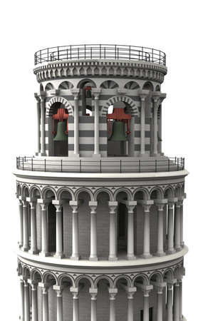 novelist: The tower was planned as a free-standing bell tower for the cathedral in Pisa. Stock Photo