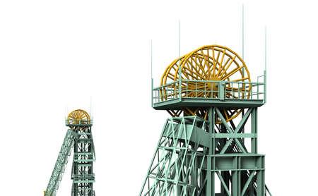 broach: The mine Westphalia was a coal mine in Ahlen. Stock Photo