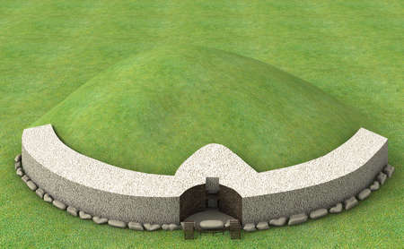 county meath: Newgrange referred to a large Neolithic grave mound in County Meath River Boyne.