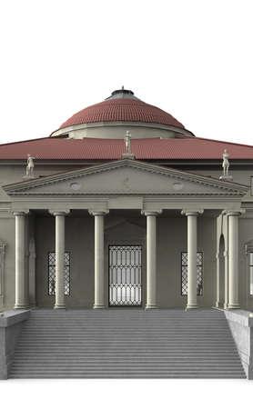 portico: La Rotonda is a villa in Vicenza, northern Italy.