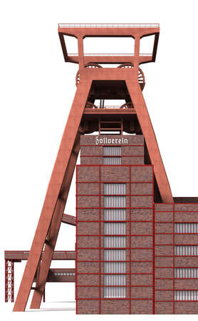 The Zollverein was a 1847 to 1986 active coal mine in Essen. photo