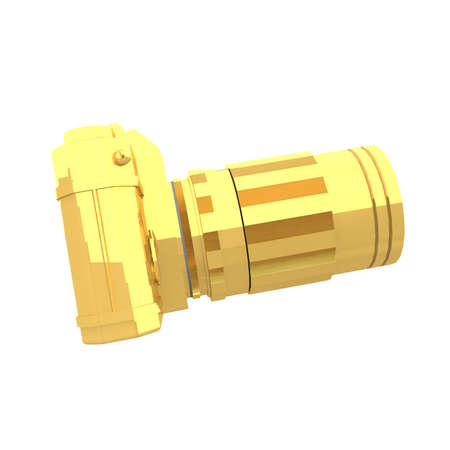 forefront: a photo camera is the perfect instrument to take creative pictures. Here in Gold