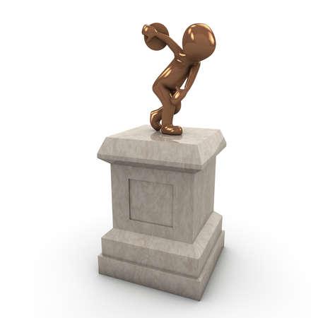 antica grecia: Discus gettando iniziata nell'antica Grecia per i giochi.