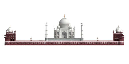 agra: The Taj Mahal is a mausoleum that stands in Agra in the Indian state of Uttar Pradesh Stock Photo