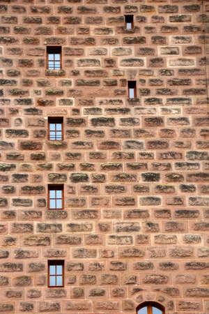 muster: ancient house bricks wall Stock Photo