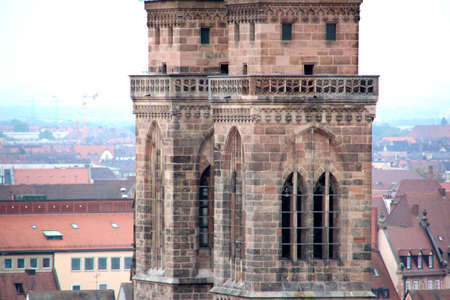 lawrence: scene from Nuremberg with St Lawrence Church at foreground Stock Photo