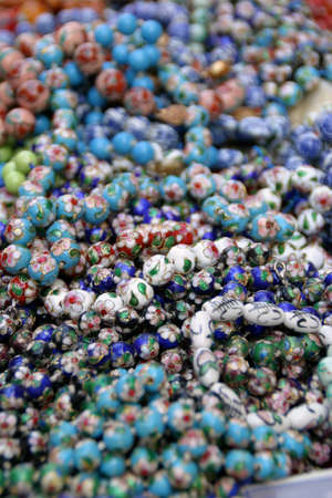 beads: Seamless pattern with a shiny colored beads Stock Photo