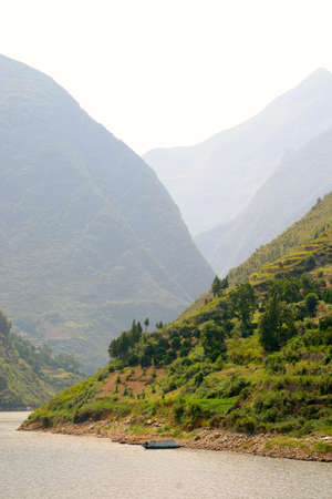 yangtze: scenery with mountains along the Yangtze River in China