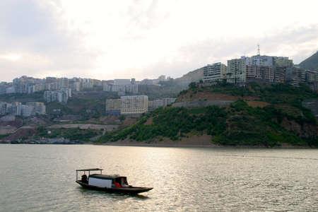 three gorges: Wu Gorge Bridge Yangtze River, Wu Gorge, Three Gorges, China