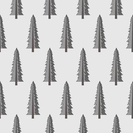Forest seamless pattern with various type of the trees. Vettoriali