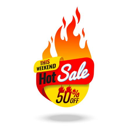 Hot Sale banner, this weekend special offer, vector illustration symbol,  tag,  template,  up,  vector,  weekend