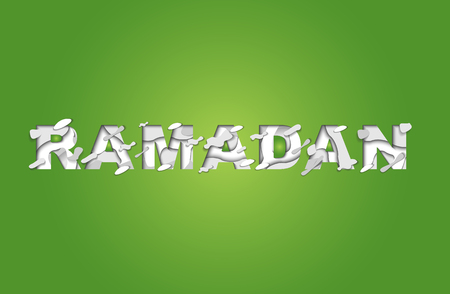 Ramadan Kareem Greeting Card With Arabic Symbol Of Islam Crescent