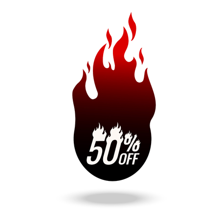 Hot Sale and Hot Deal banners, special offer, up to 50 off, vector illustration