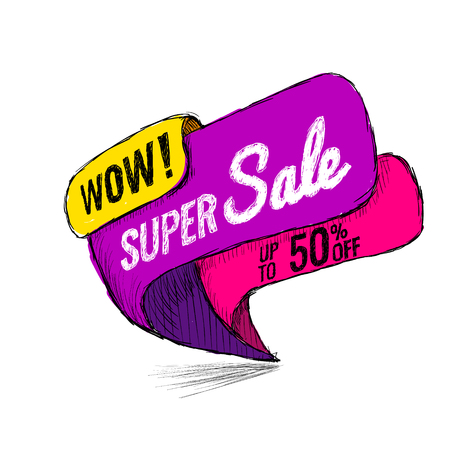 Super Sale, this weekend special offer banner, up to 50 off.